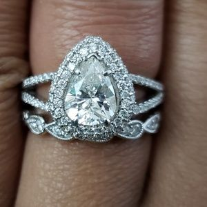 Jewelry - 1.06CTW Pear diamond engagement/wedding ring
